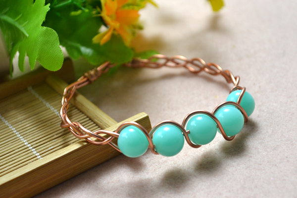 Braided Wire Bangle Bracelet