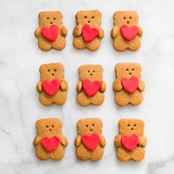 Valentine Bear Cookies