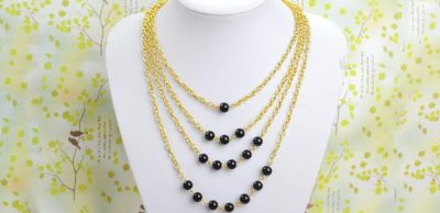 Multi-Strand Beaded Necklace
