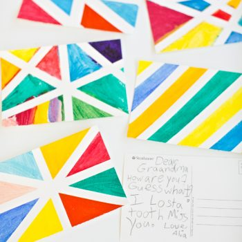 Geometric Watercolor Postcard Art
