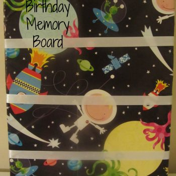 Birthday Memory Board