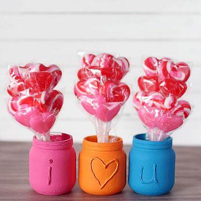 'I Love You' Embossed Jars