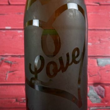 Etched Sparkling Cider Bottle