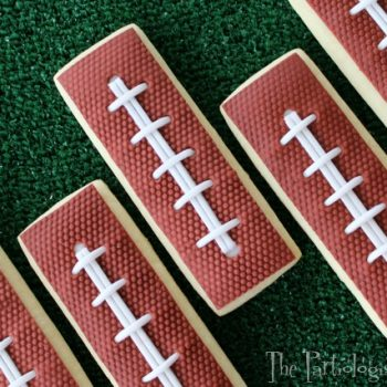 Football Slice Cookies