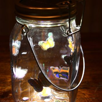 Solar-Powered Butterfly Lantern