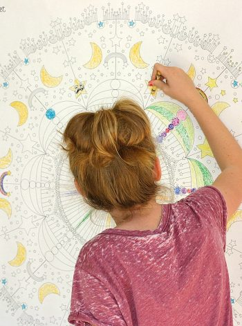 Oversized Coloring Mural