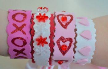 Valentine's Day Foam Bracelets