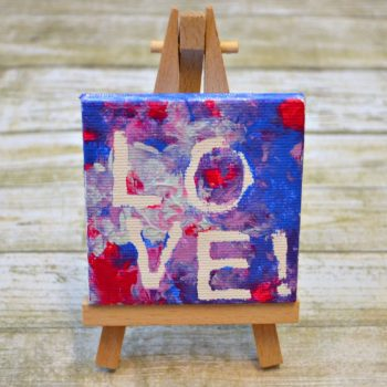 "Miniature ""LOVE"" Canvas Art"