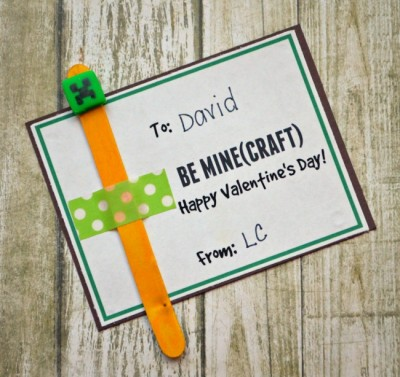 Minecraft Valentine Bookmarks