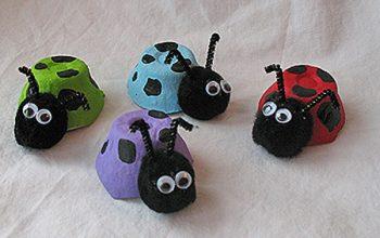 Egg Carton Ladybugs