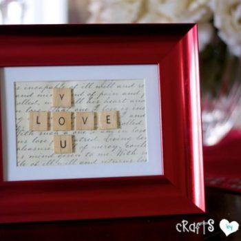 Scrabble Valentine Frame