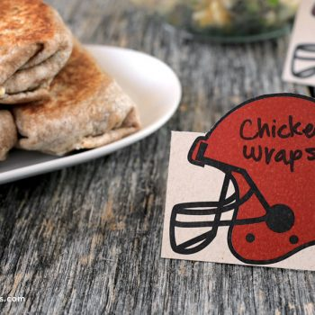 Printable Football Helmet Tent Cards