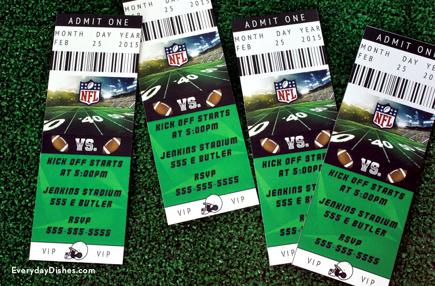 Football Ticket Invitations | Fun Family Crafts