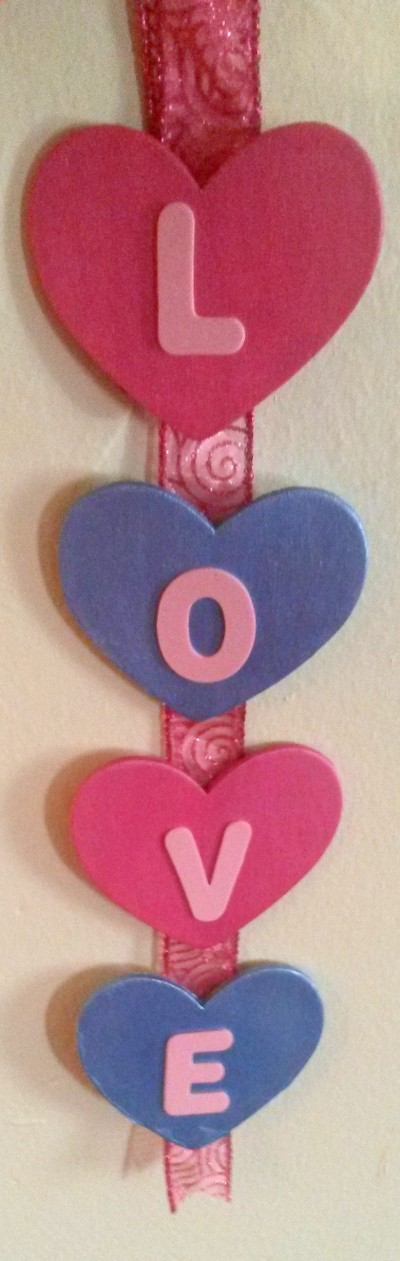 Valentine Hearts Wall Decoration