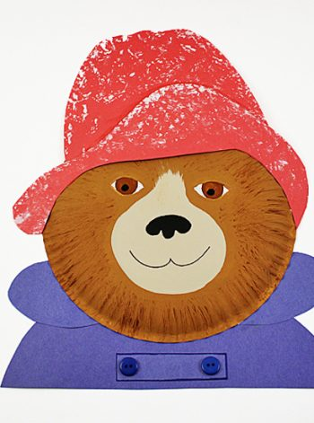 Paper Plate Paddington Bear