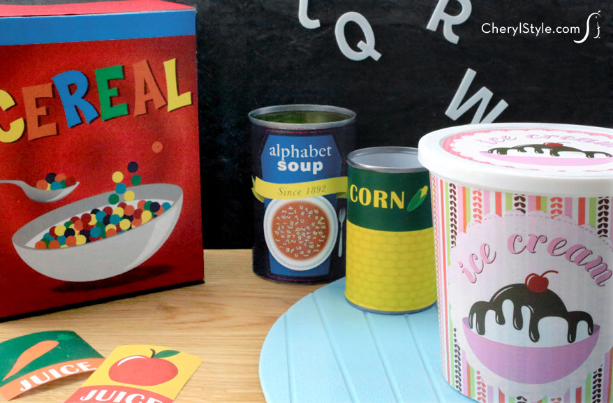 Printable Play Food Labels | Fun Family Crafts