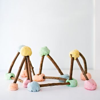 Playdough Stick Structures