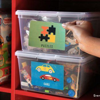 Printable Playroom Labels