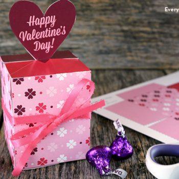 Printable Valentine Candy Box