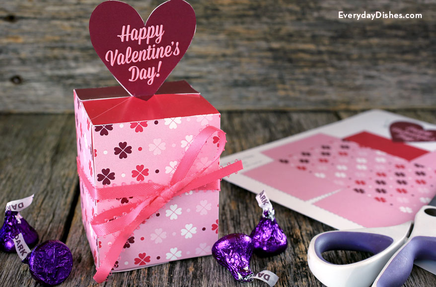 Printable Valentine Candy Box