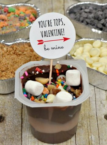 Valentine's Day Pudding Cups and Topping Bar