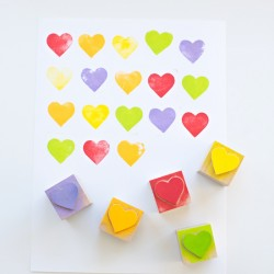 Rainbow Heart Stamps