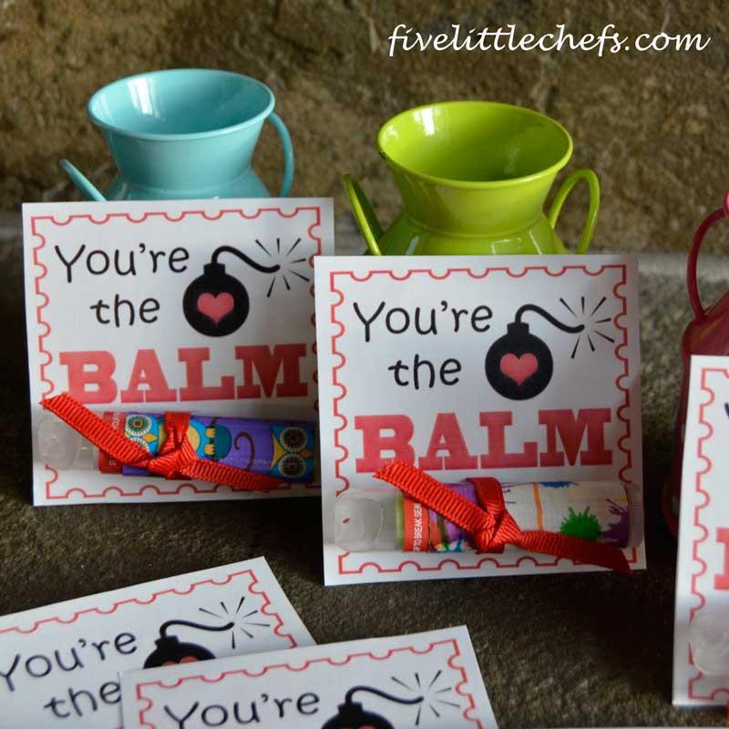 Printable Lip Balm Valentines