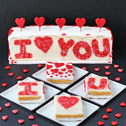 'I Love You' Surprise Inside Cake