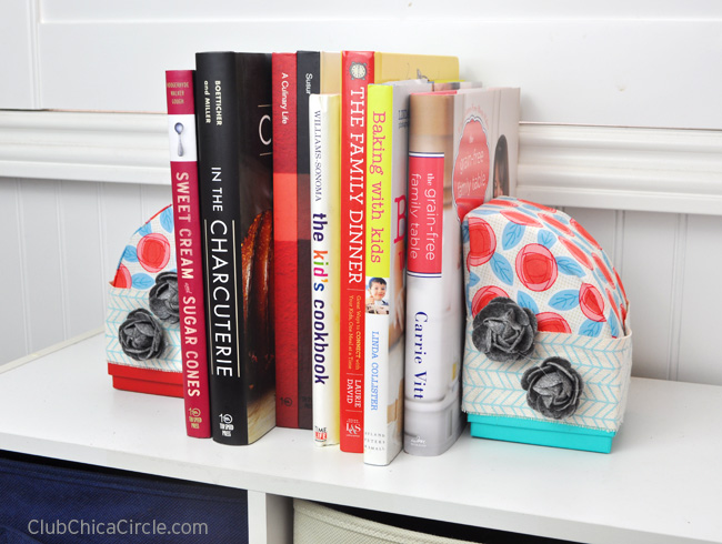 Fabric-Wrapped Bookends