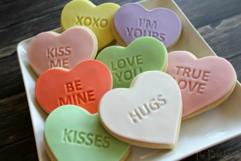 Conversation Heart Cookies