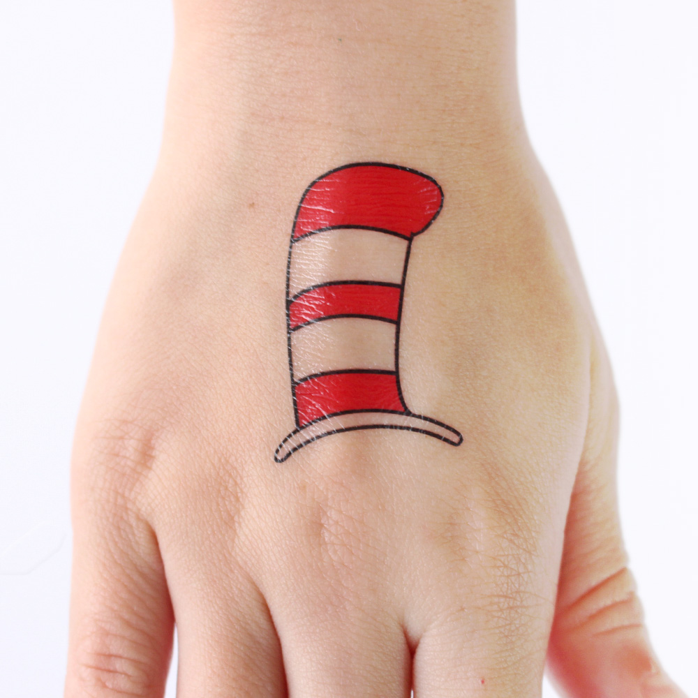 Dr seuss temporary tattoos fun family crafts for Mustache temporary tattoos