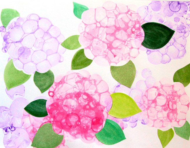 Bubble Paint Flower Hydrangeas