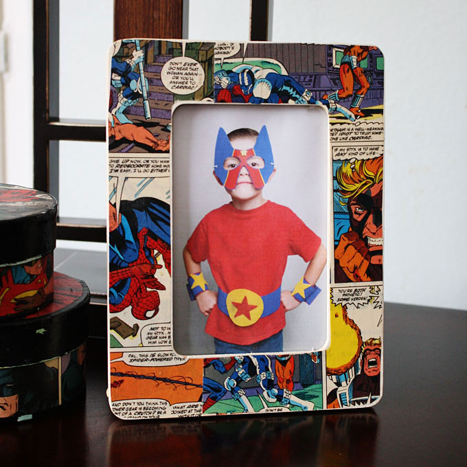 Comic Book Frame Fun Family Crafts