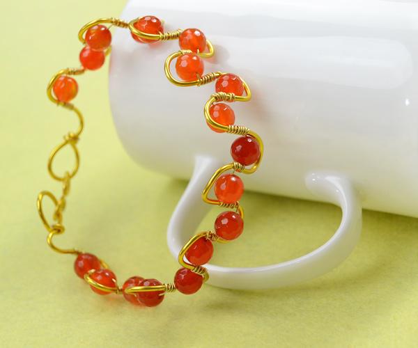 Wire-Wrapped Wave Bracelet