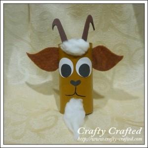 Cardboard Tube Goat
