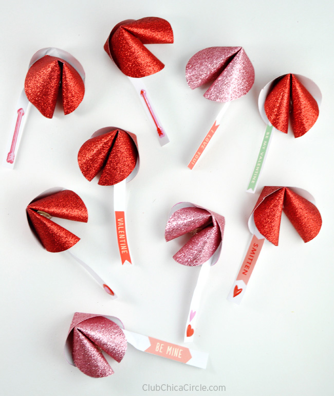 Paper Fortune Cookie Valentines