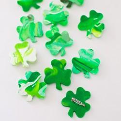 St. Patrick Shamrock Clay Pins