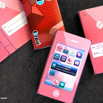 Printable Cell Phone Candy Wrapper