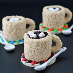 Rice Krispie Treat Cups