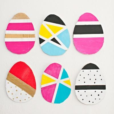 Modern Cardboard Easter Eggs
