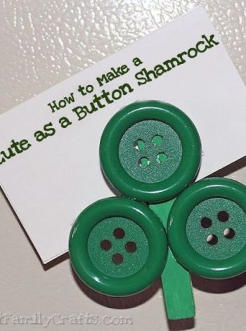 Cute as a Button Shamrock