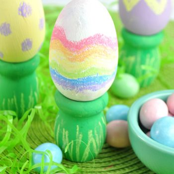 Wooden Chalkboard Easter Eggs