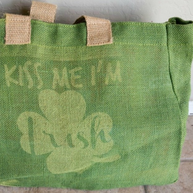 St. Patrick's Day Burlap Bag