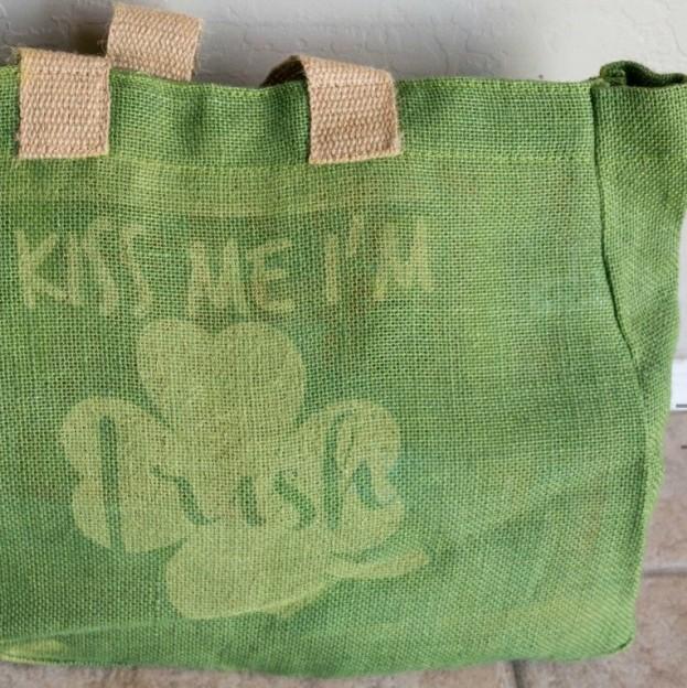 St. Patrick's Day Burlap Bag