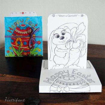Easter Bunny Sliding Pop-Up Card