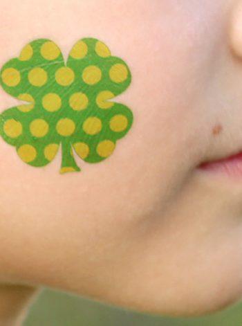 Four Leaf Clover Temporary Tattos