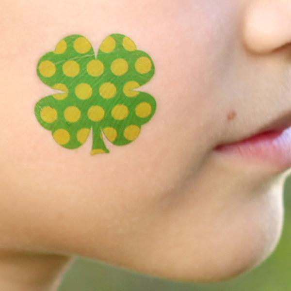 4 Leaf Clover Temporary Tattos