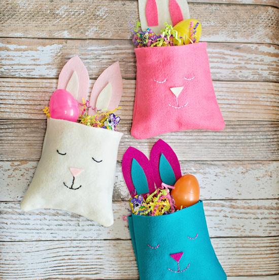 Felt Bunny Favor Bags