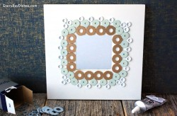 Frame Decorated with Washers