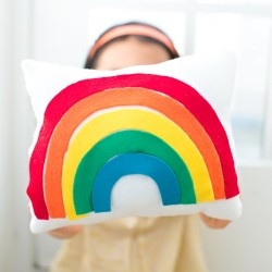 Rainbow Felt Pillow